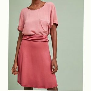 🆕Coral ANTHRO SATURDAY SUNDAY Fold Over Skirt NWT